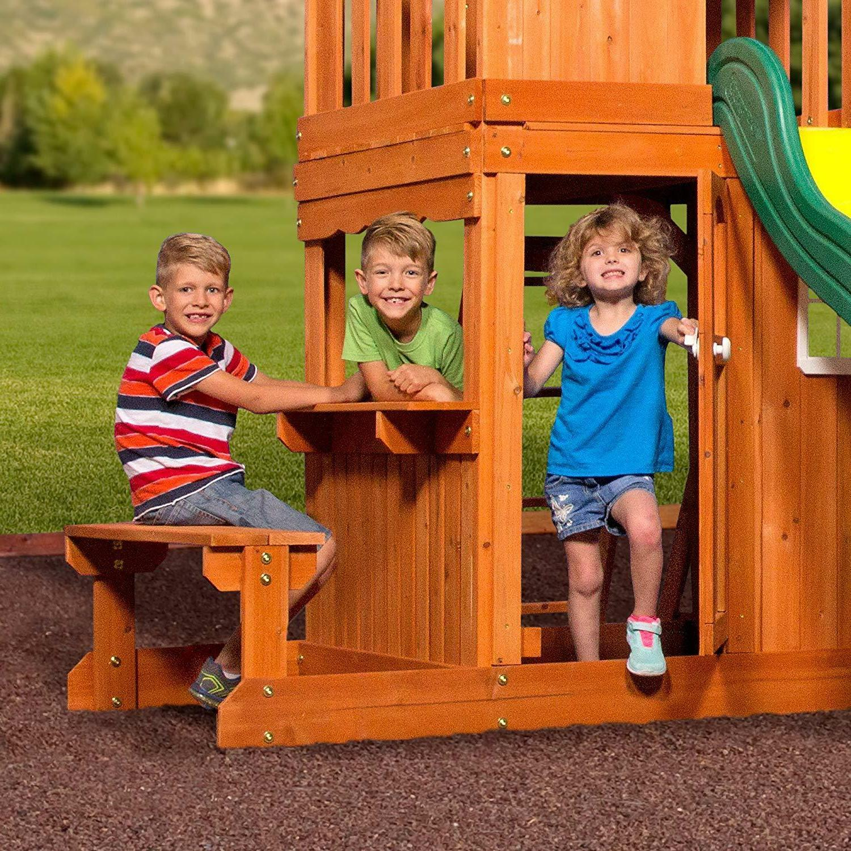 Playset Set Oakmont Cedar for Activity Fun