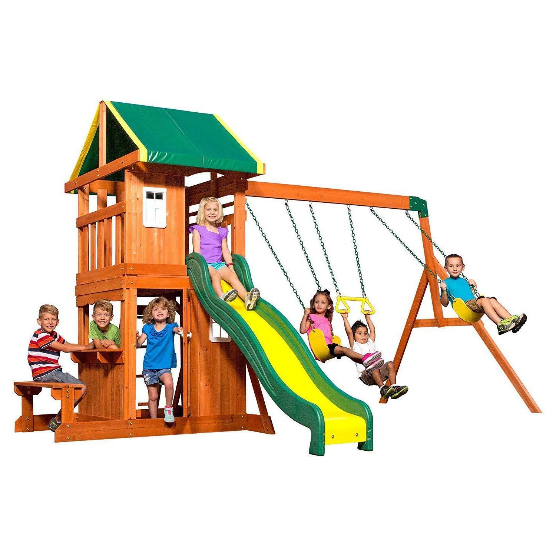 playset swing set slide oakmont all cedar
