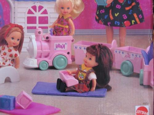 Barbie Playset Blackboard, Sink Unit, Train