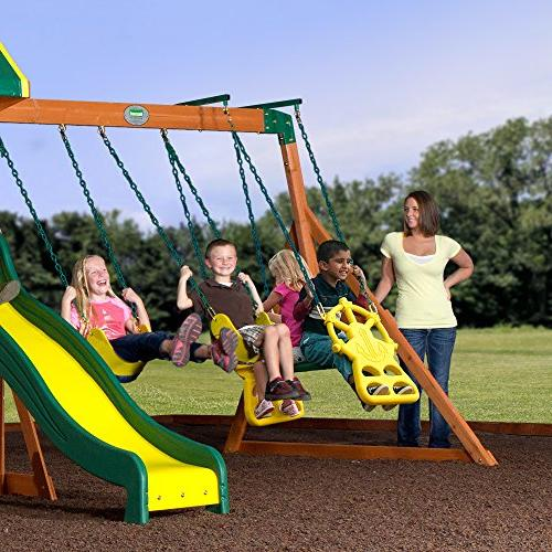 Backyard Ridge All Cedar Wood Playset Swing Set