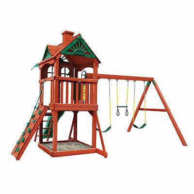 Gorilla Premium Cedar Wood Swing Five Star Outdoor Playset