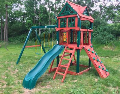 Gorilla Playsets Wood Swing Star II Outdoor Playset