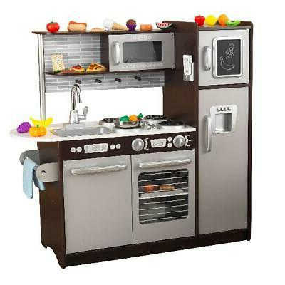 Girls Kitchen Play Set Cooking 30 Piece Play Food Stove Sink