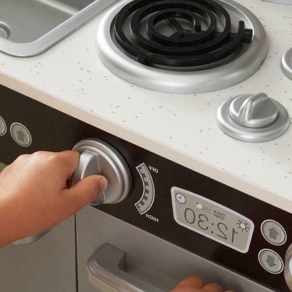 Pretend Kitchen 30 Piece Oven Refrigerator Kids Learning