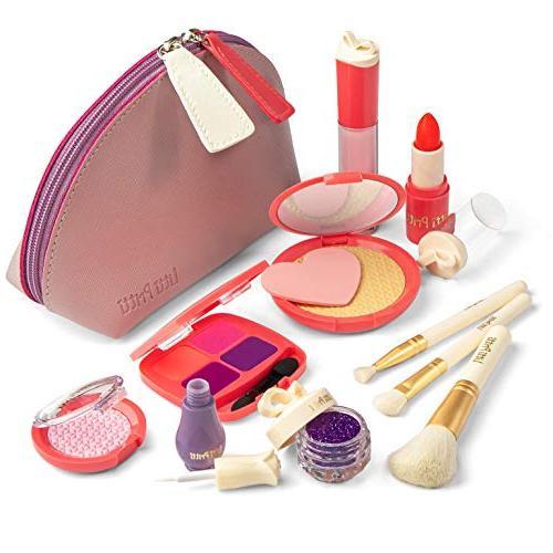 Litti Pritti Pretend Makeup for Girls - 11 Piece Play Makeup