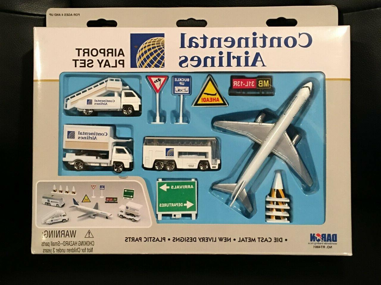 rare nos realtoy continental airlines airport playset