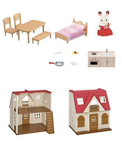Calico Red Roof Cozy Cottage