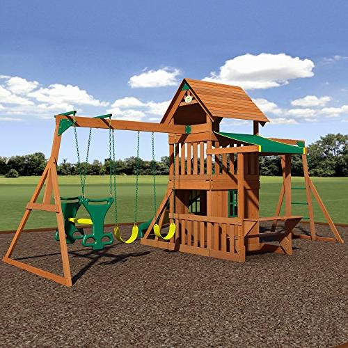 Backyard Cedar Playset Set