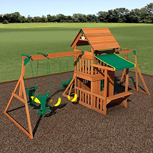 Backyard Cedar Wood Swing Set