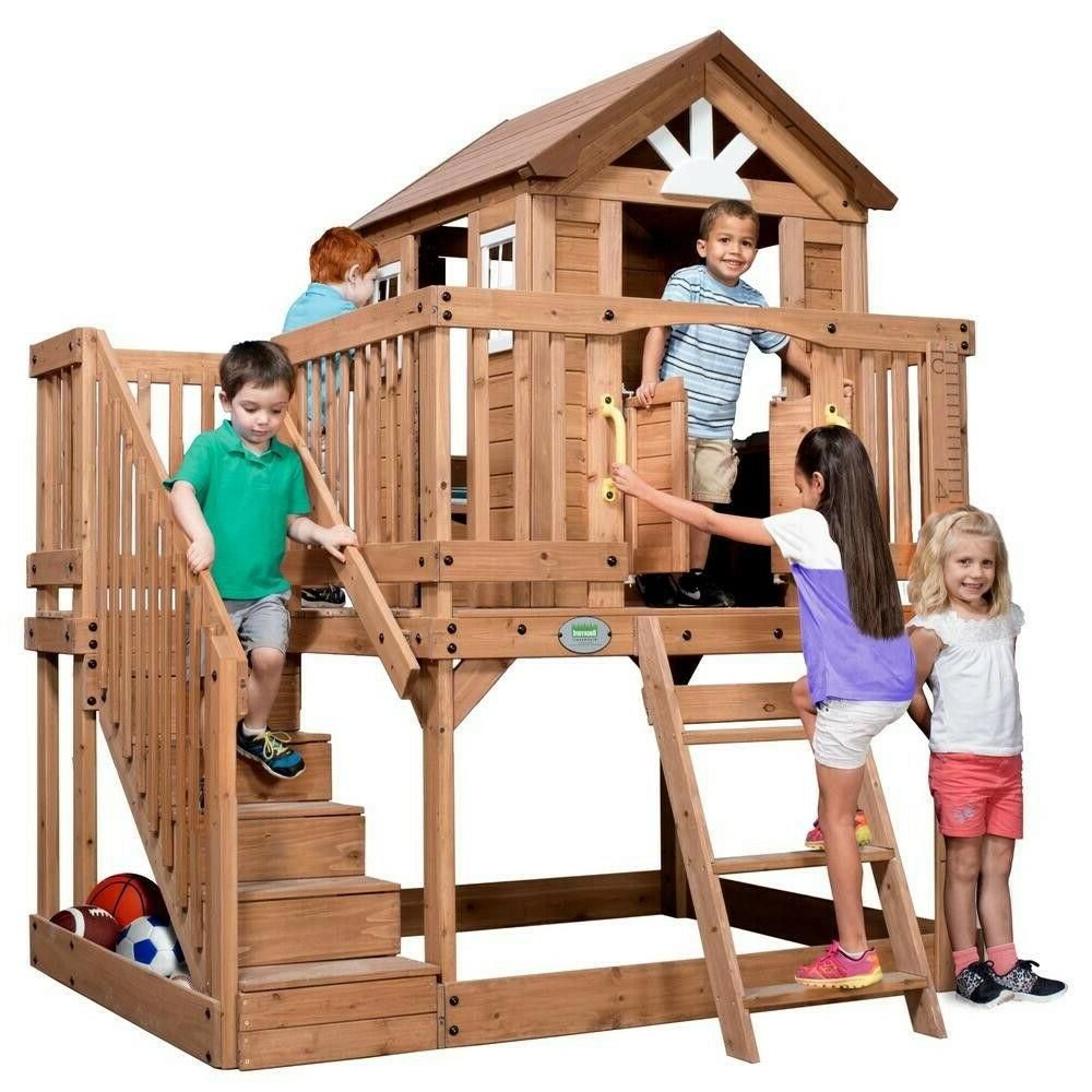 Backyard Discovery Scenic Heights All Cedar Playhouse With