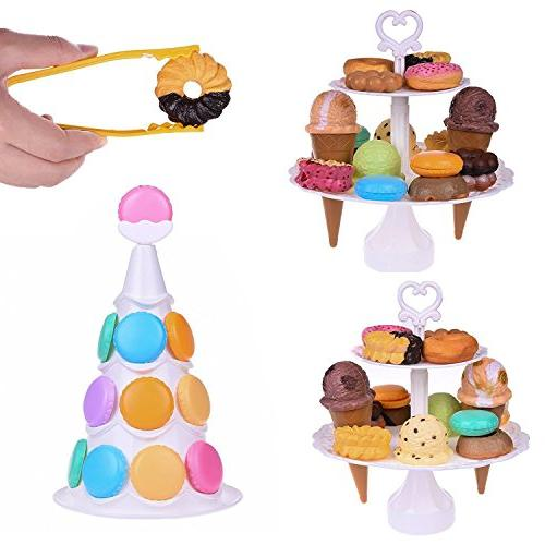 Stacking Ice Cone and Food Set for Kids Balancing Game,Birthday Favors