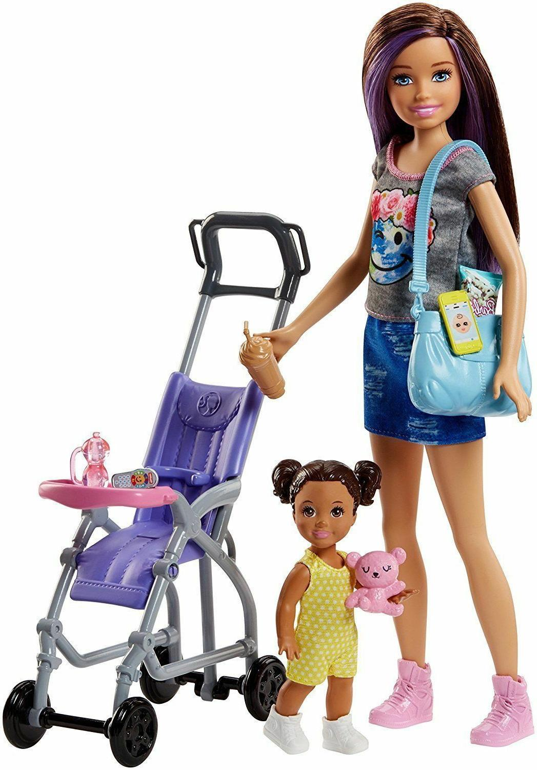 Barbie Skipper Babysitters Inc. Doll and Stroller Playset