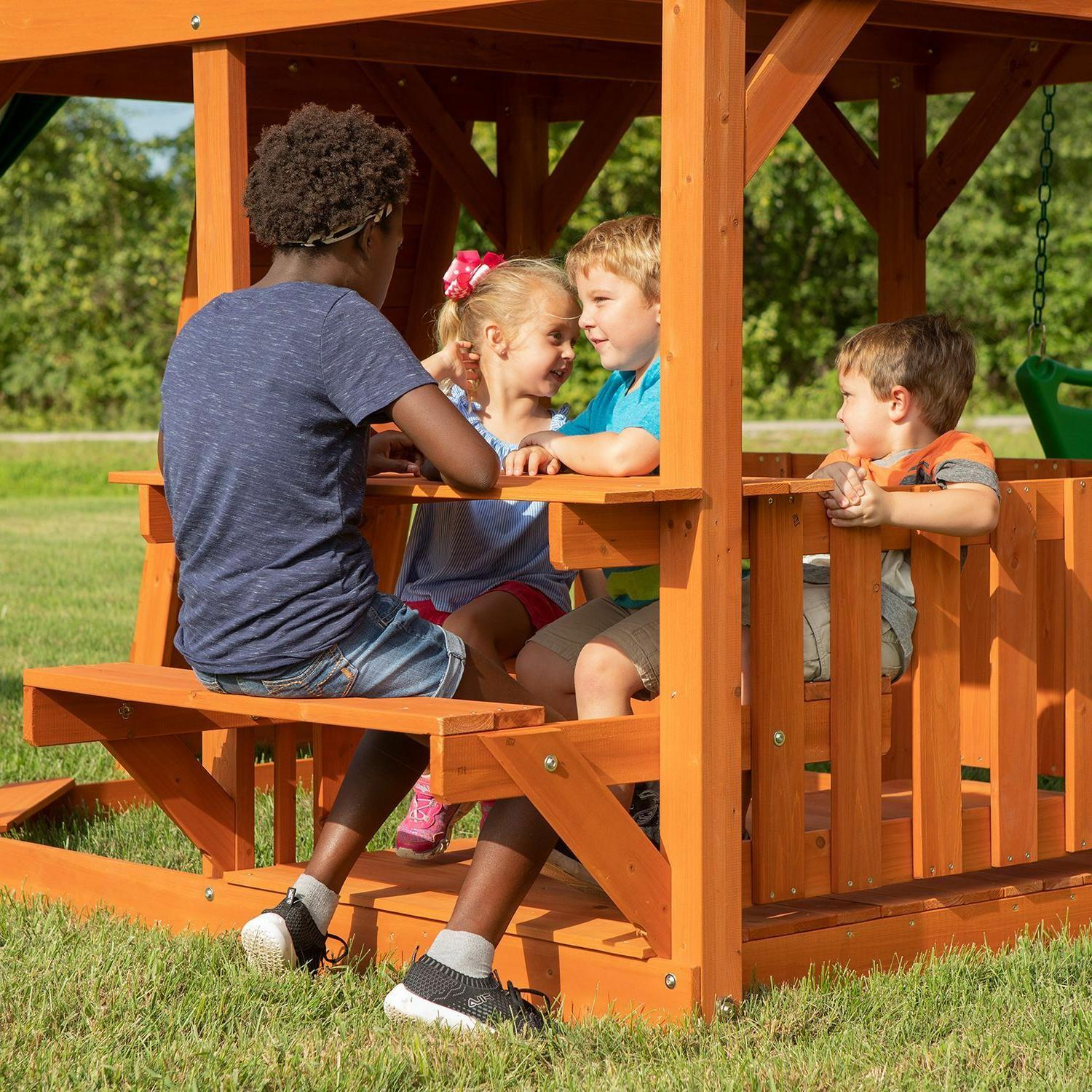 Backyard Skyfort II Cedar Set/Play Set Do Yourself