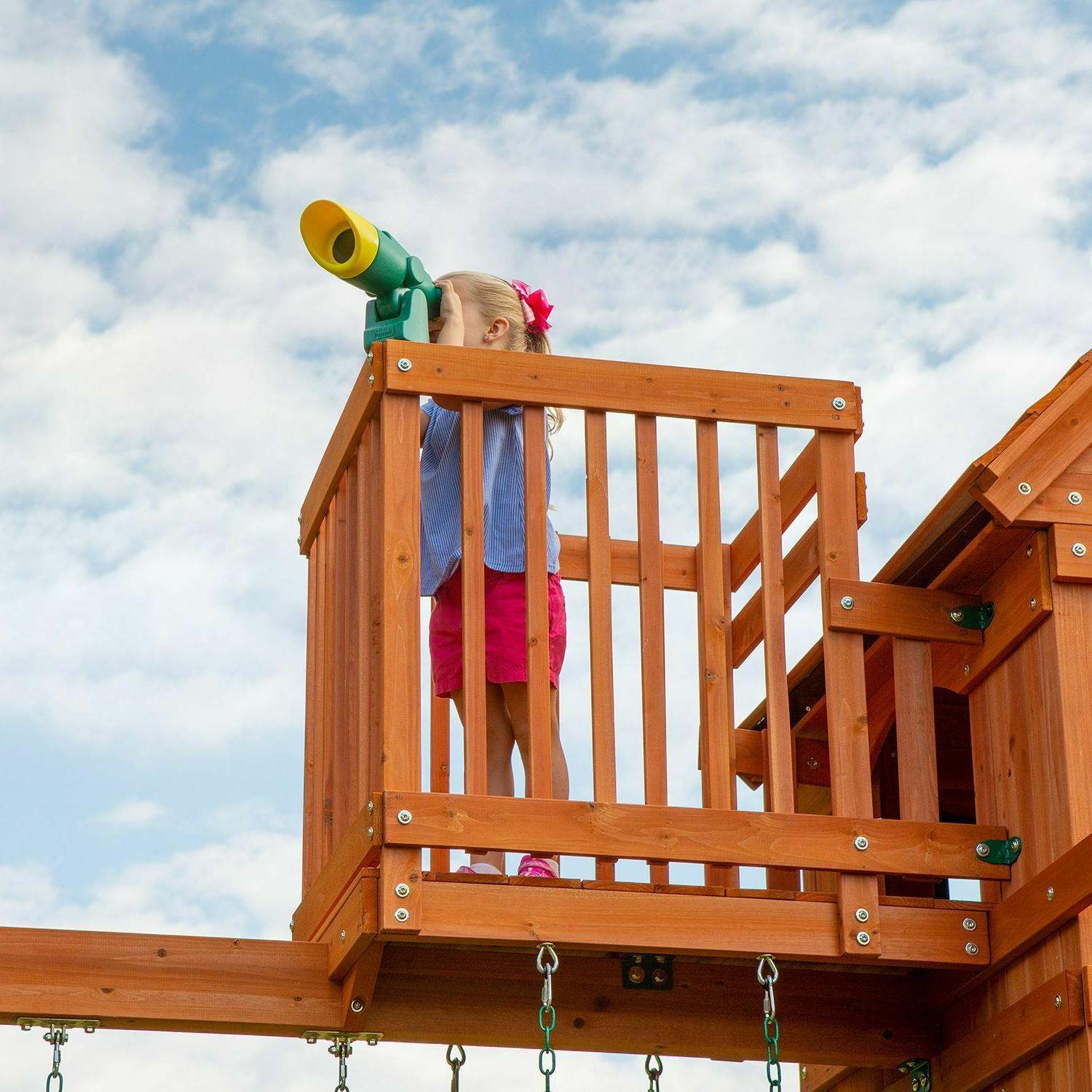 Backyard Discovery Skyfort Cedar Swing Set/Play Do It Yourself