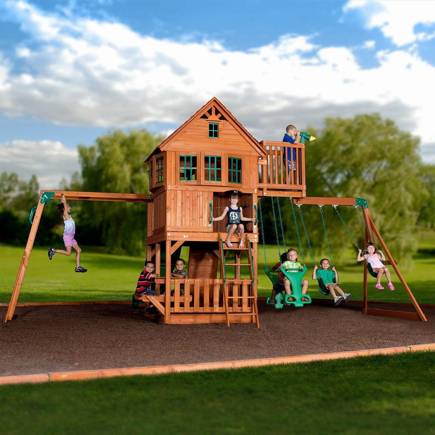 Backyard Cedar Swing Set/Play Do