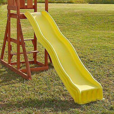 Slide Playset Garden Playground Yellow Outdoor