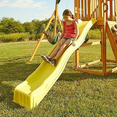 slide wave kids backyard playset garden playground