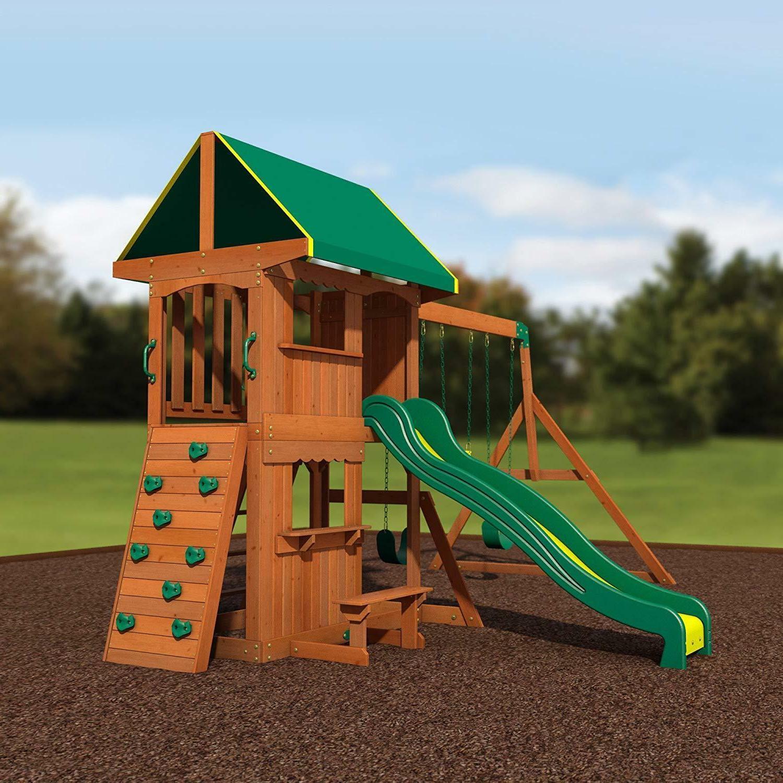 Backyard Cedar Wood Playset Set