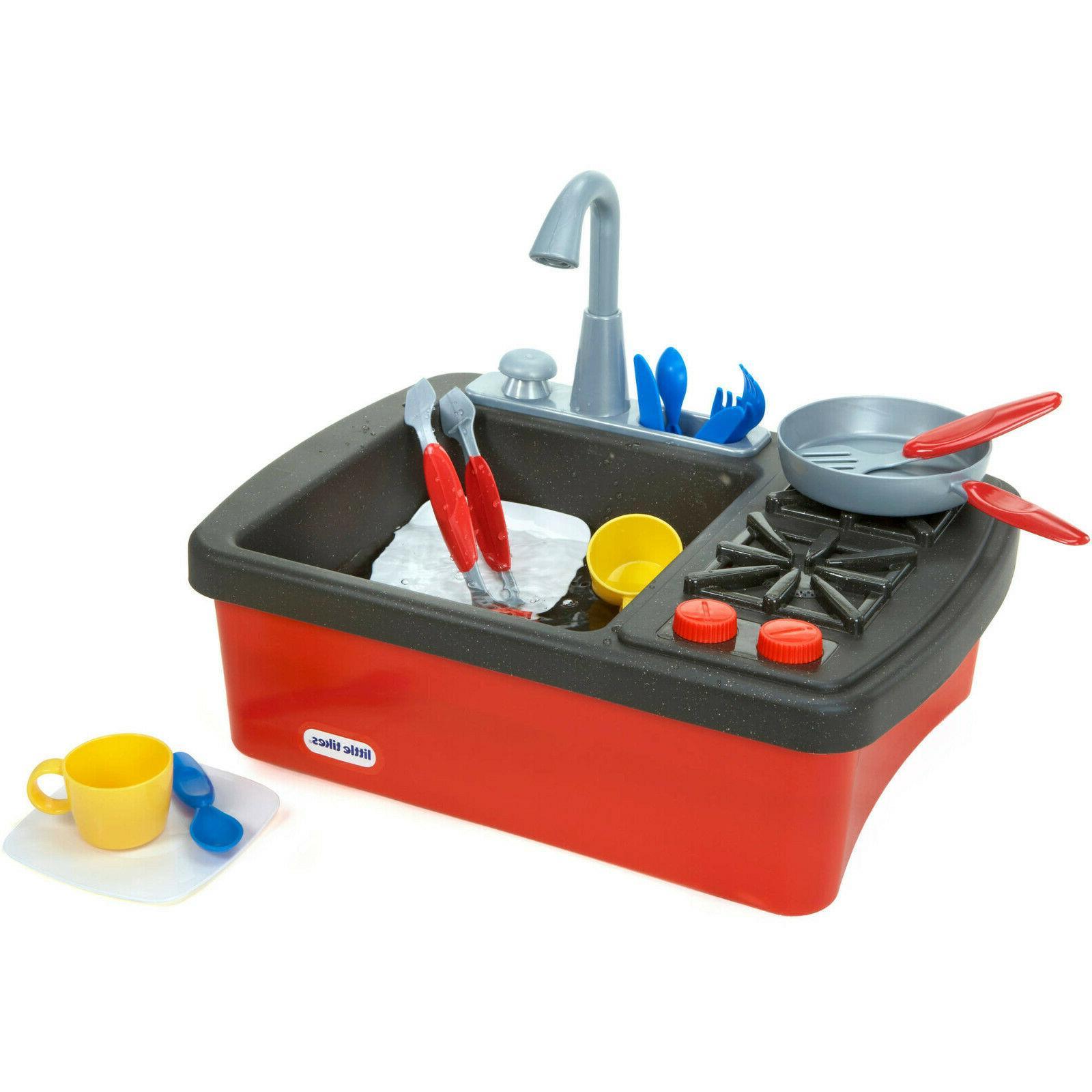 Little Tikes Splish Splash Sink & Stove Play Set Fun Indoor