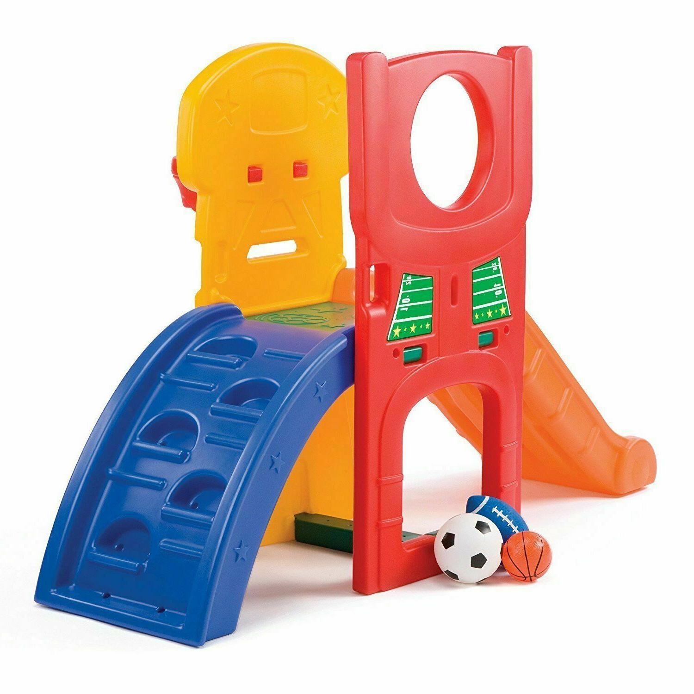 Set Sport Playset Climber Playful Slide Center Set Kids