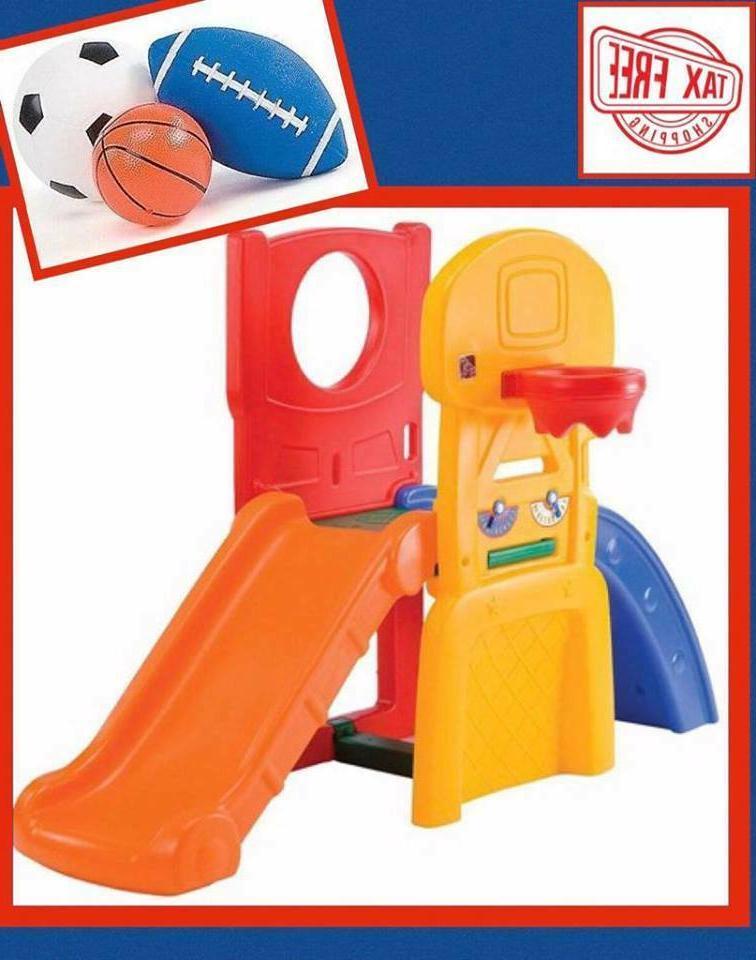set sport playset climber playful outdoor slide