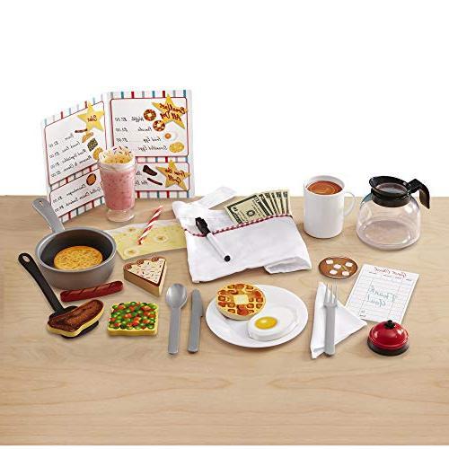 "Melissa & Doug Star Diner Wooden Set, Toy Diner 41 Pieces, H x 9.75"" L"