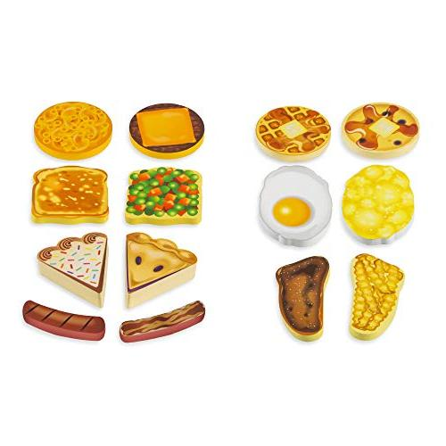 """Melissa Diner Play Wooden Toy Pieces, 7.75"""" 9.75"""" L"""