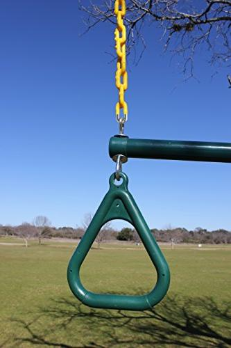 "Jungle Gym Kingdom 18"" Trapeze Swing Bar 48"" Heavy Duty Locking"