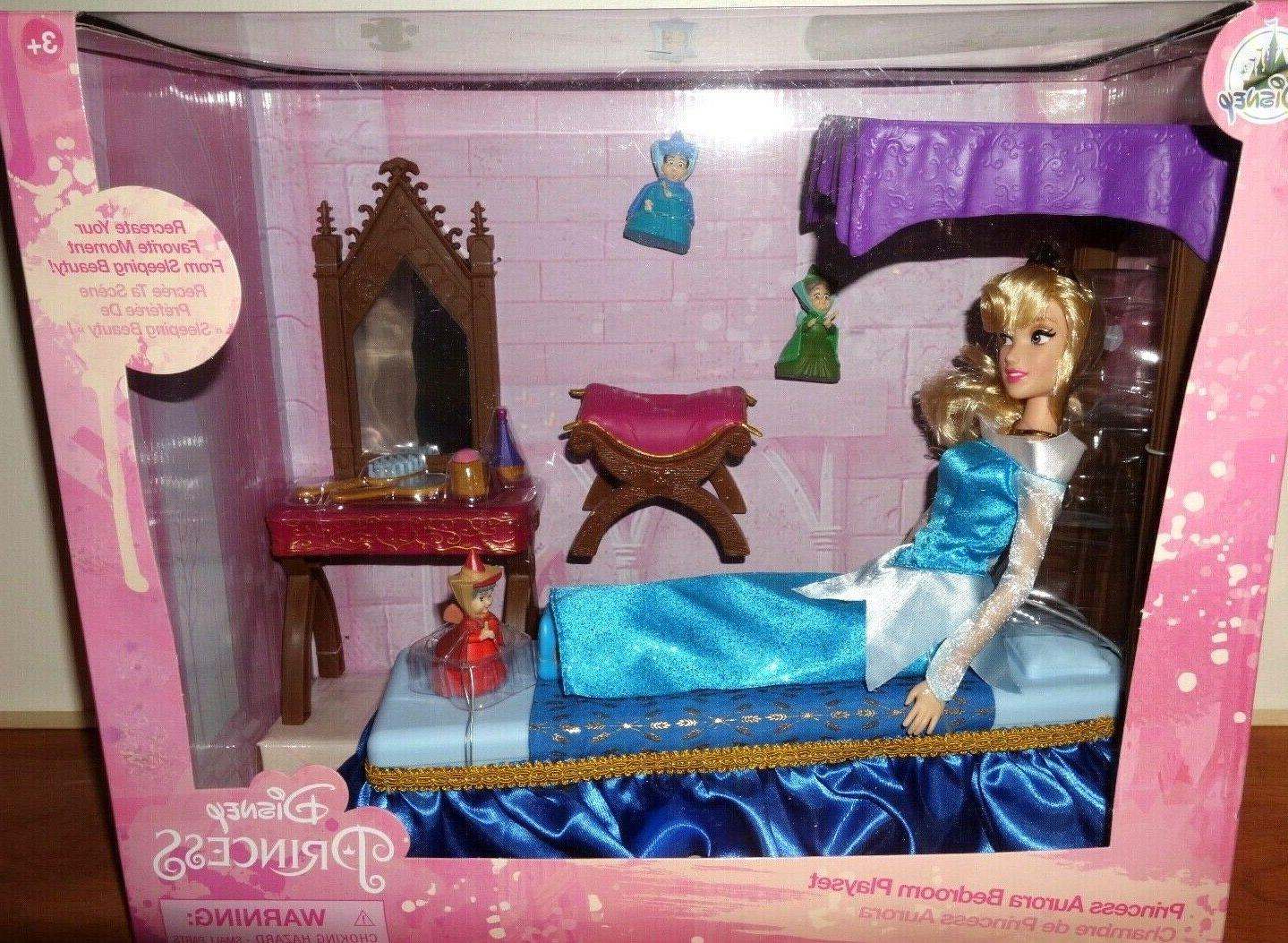 "Disney Store CLASSIC DOLL BEDROOM PLAY SET 11"" 2019"