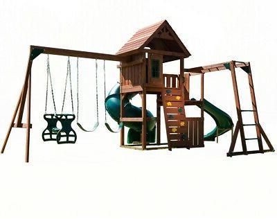 Swing-N-Slide Grandview Complete Playset Wood Playset