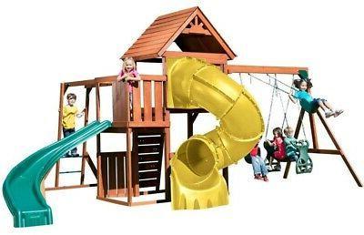swing n slide grandview twist wood complete