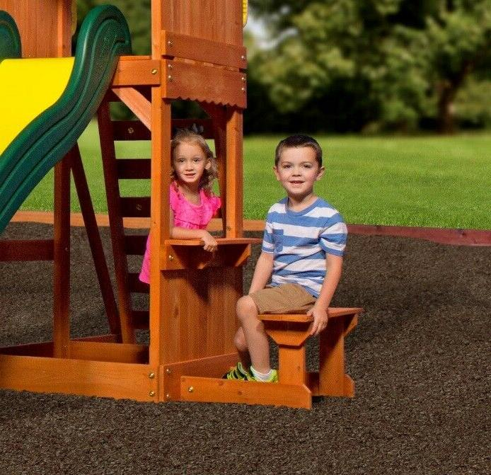 Backyard Swing Set Weston Cedar Wooden Playground Playset Kids
