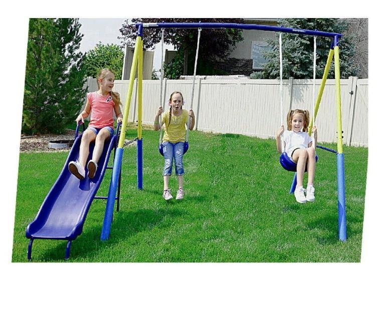 swing set for backyard metal playground slide