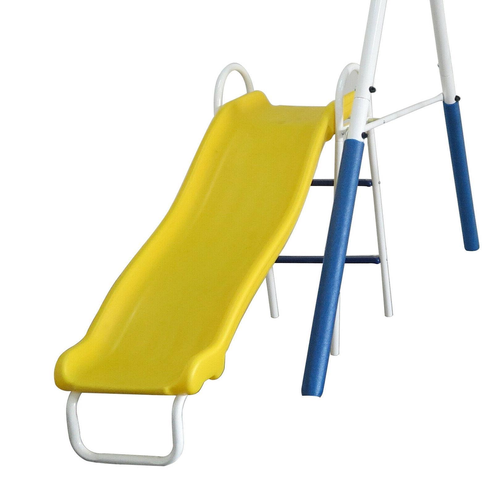 Swing Metal Swingset Metal Playground Outdoor Wave Slide