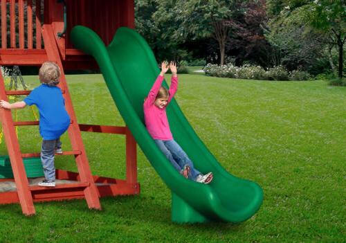 swing set stuff 12 super slide green