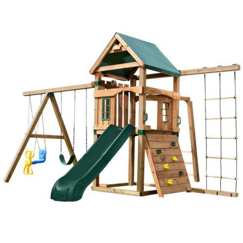 swing set stuff inc trekker play set
