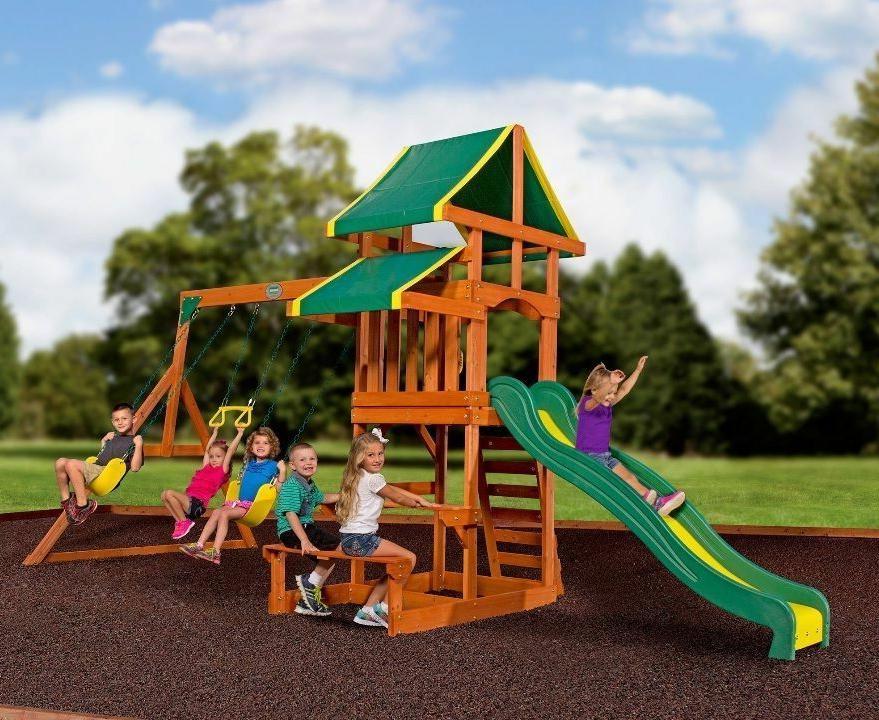swing set tucson cedar wooden outdoor playground