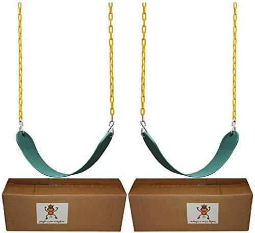 "Jungle Kingdom Pack Duty 66"" Chain Coated - Swing Set with Snap"