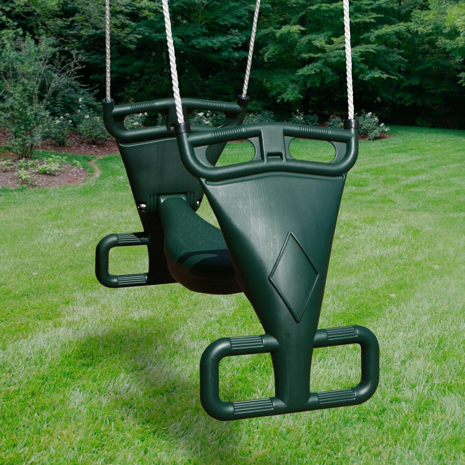 tandem swing outdoor play children backyard plastic