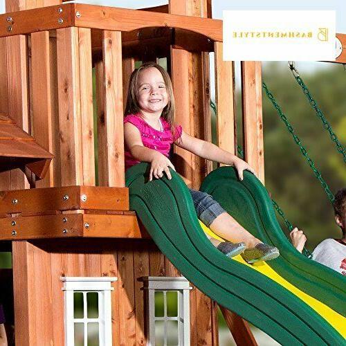 Backyard Discovery Tanglewood All Cedar Wood Set