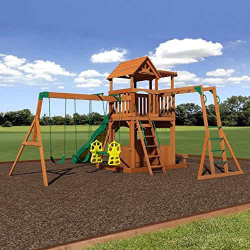 Backyard Thunder All Cedar Playset Swing
