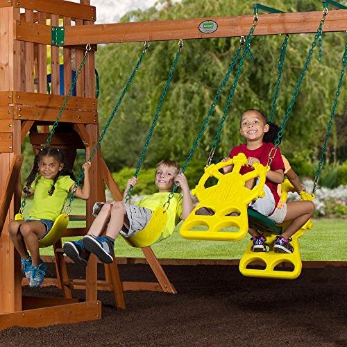 Backyard Discovery Ridge All Cedar Wood Swing Set