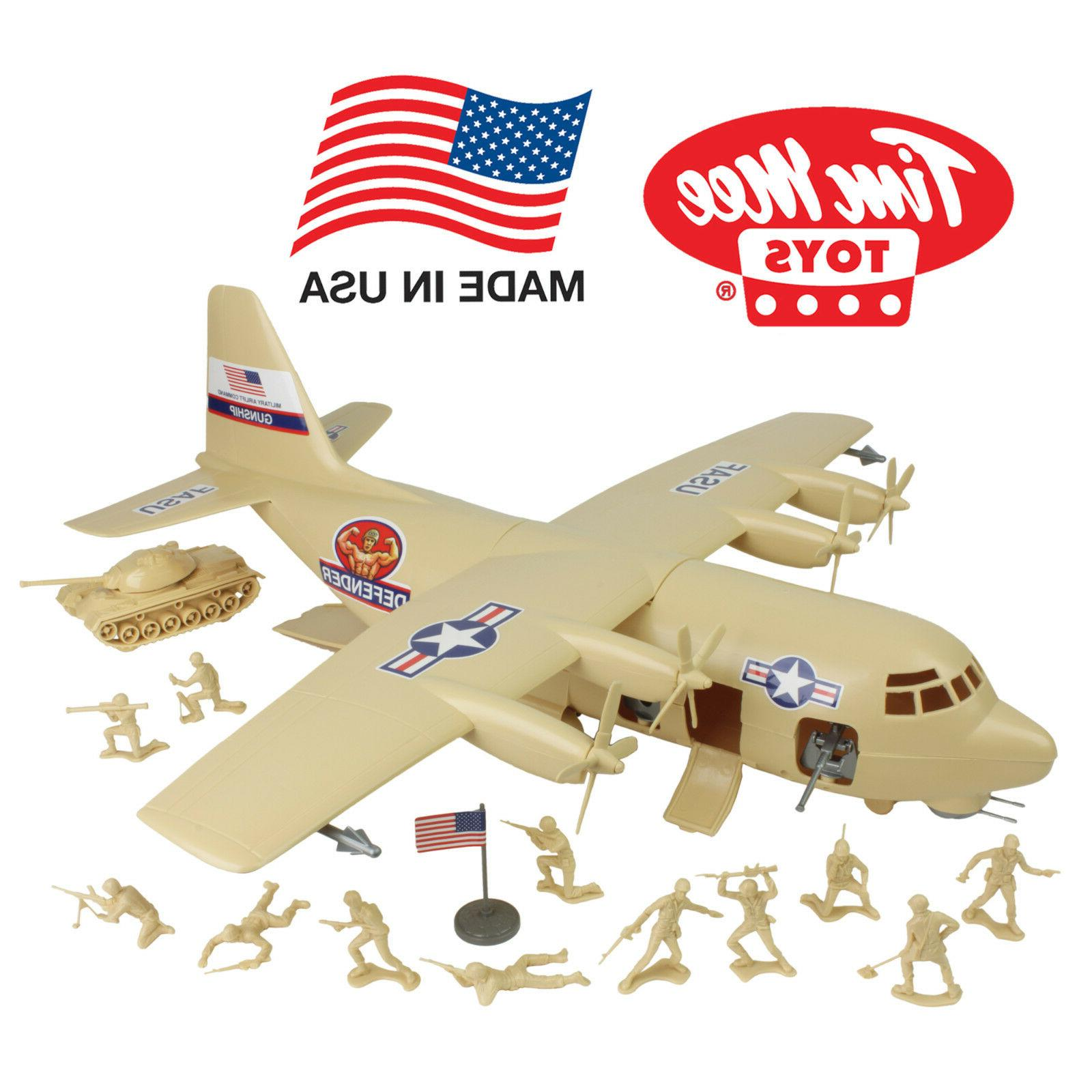 timmee processed plastic hercules c130 gunship army