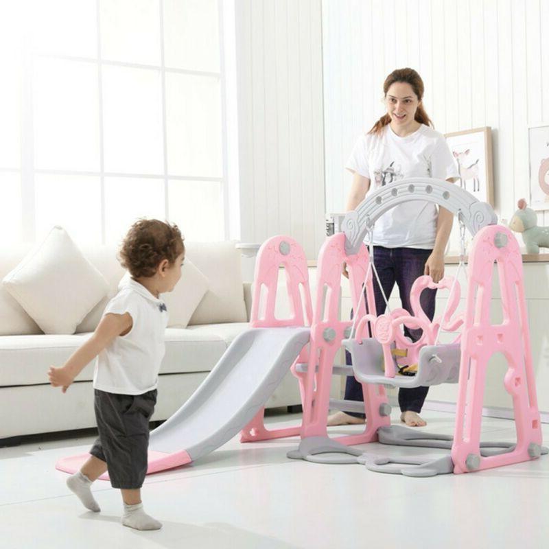Kids Play Slide Set Climber Playset Indoor Outdoor Playgroun