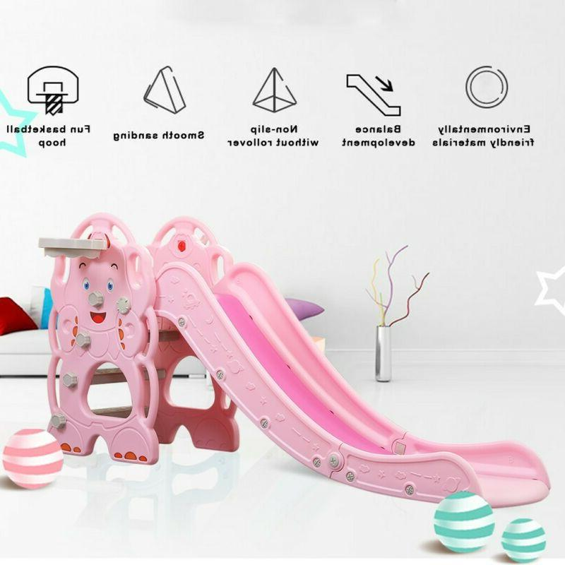Play Slide Climber Playset Playground Basket Net