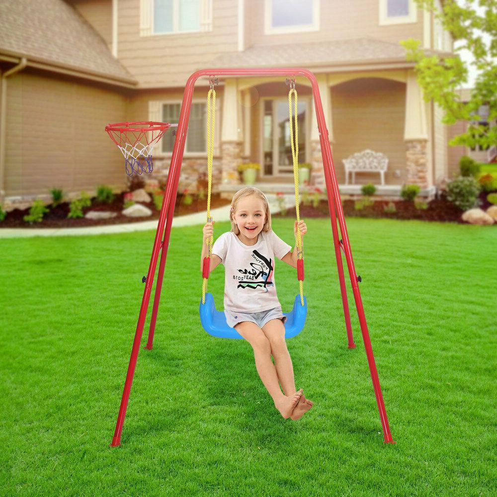 Toddler Swing 2 in Basketball Set