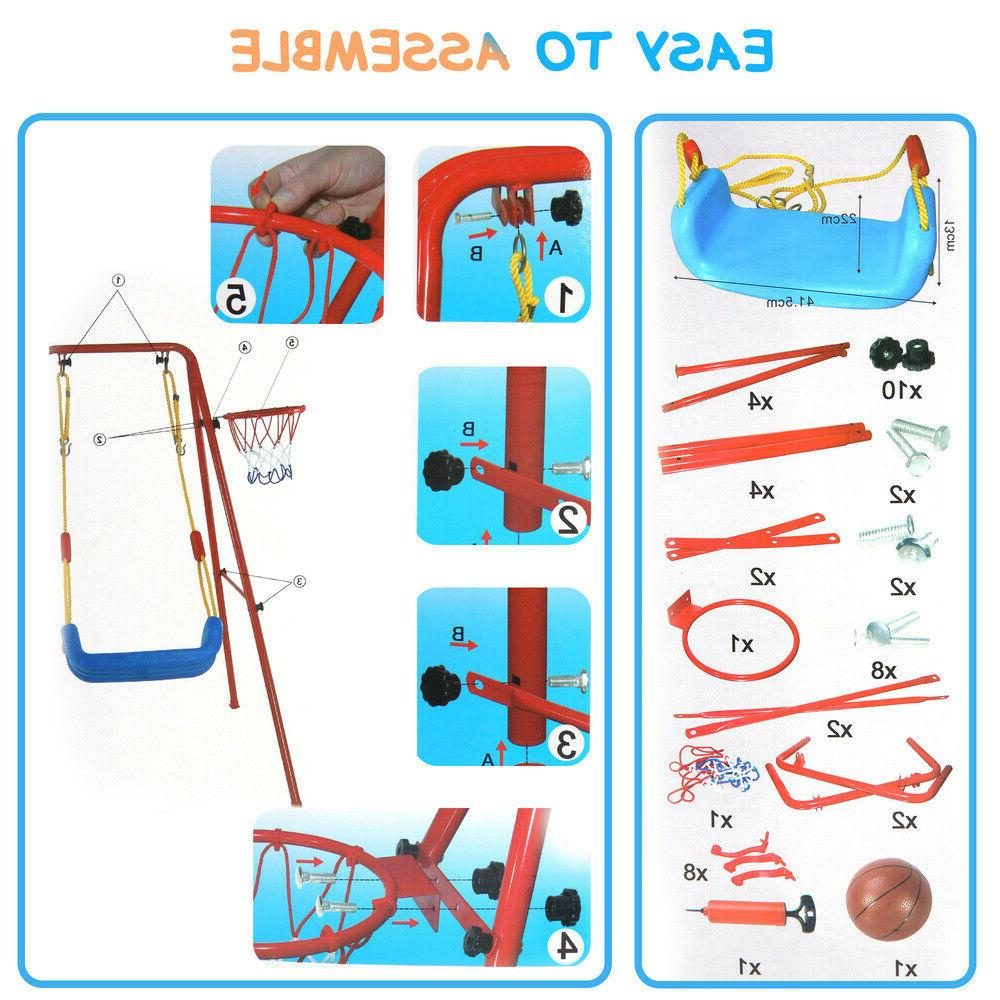 Toddler 2 in Swing Basketball Combination Set