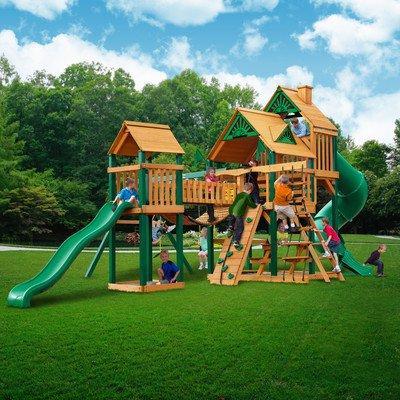 treasure trove wood swing set