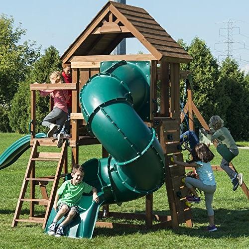 Swing-N-Slide Set with Two Table, Wall