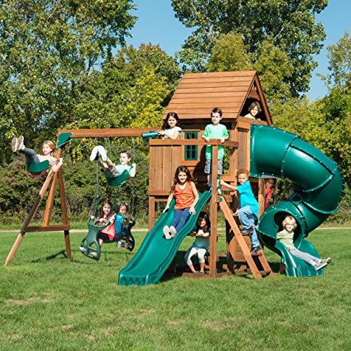 Swing-N-Slide Tremont Tower Set Table, Climbing Wall